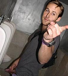 Ryan Gosling Pissing