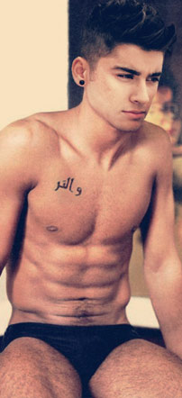 Zayn Malik Shirtless